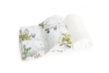 2-pack Bamboo Muslin Swaddle Cactus Plain