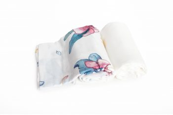 2-pack Bamboo Muslin Swaddle Hibiscus Plain