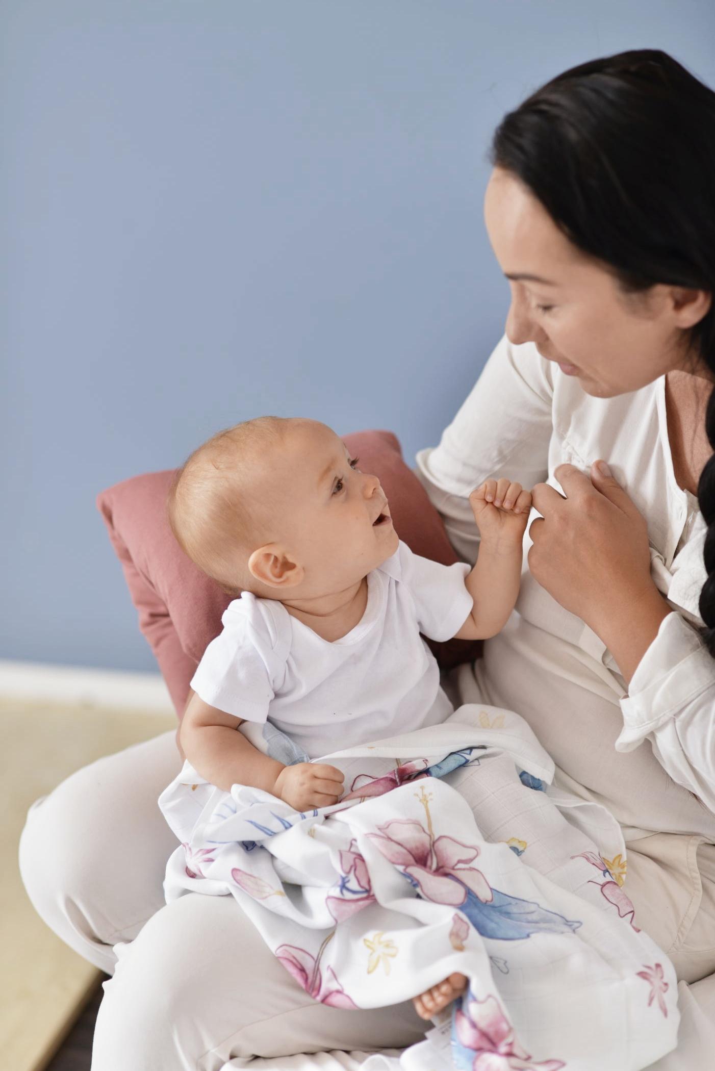 nursing pillow arm band wrap sleeve organic cotton maroon