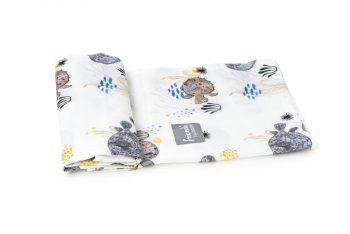 muslin swaddle ocean pufferfish