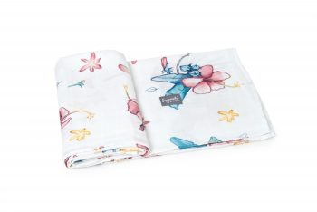 Poofi tropical swaddle hibiscus