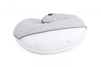 Poofi nursing pilllow cotton melange grey white