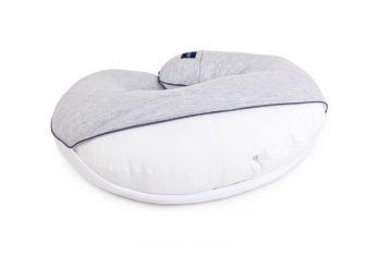 Poofi nursing pilllow cotton melange grey white