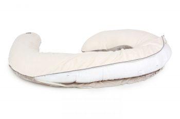 Poofi pregnancy pilllow minky cream grey