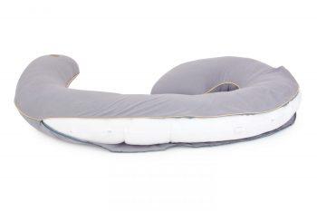 Poofi pregnancy pilllow organic cotton grey