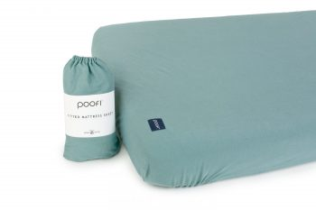 Poofi mattres cover sheet organic cotton petrol