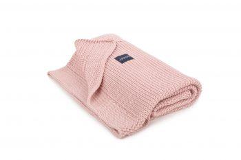 vintage pink blanket by Poofi