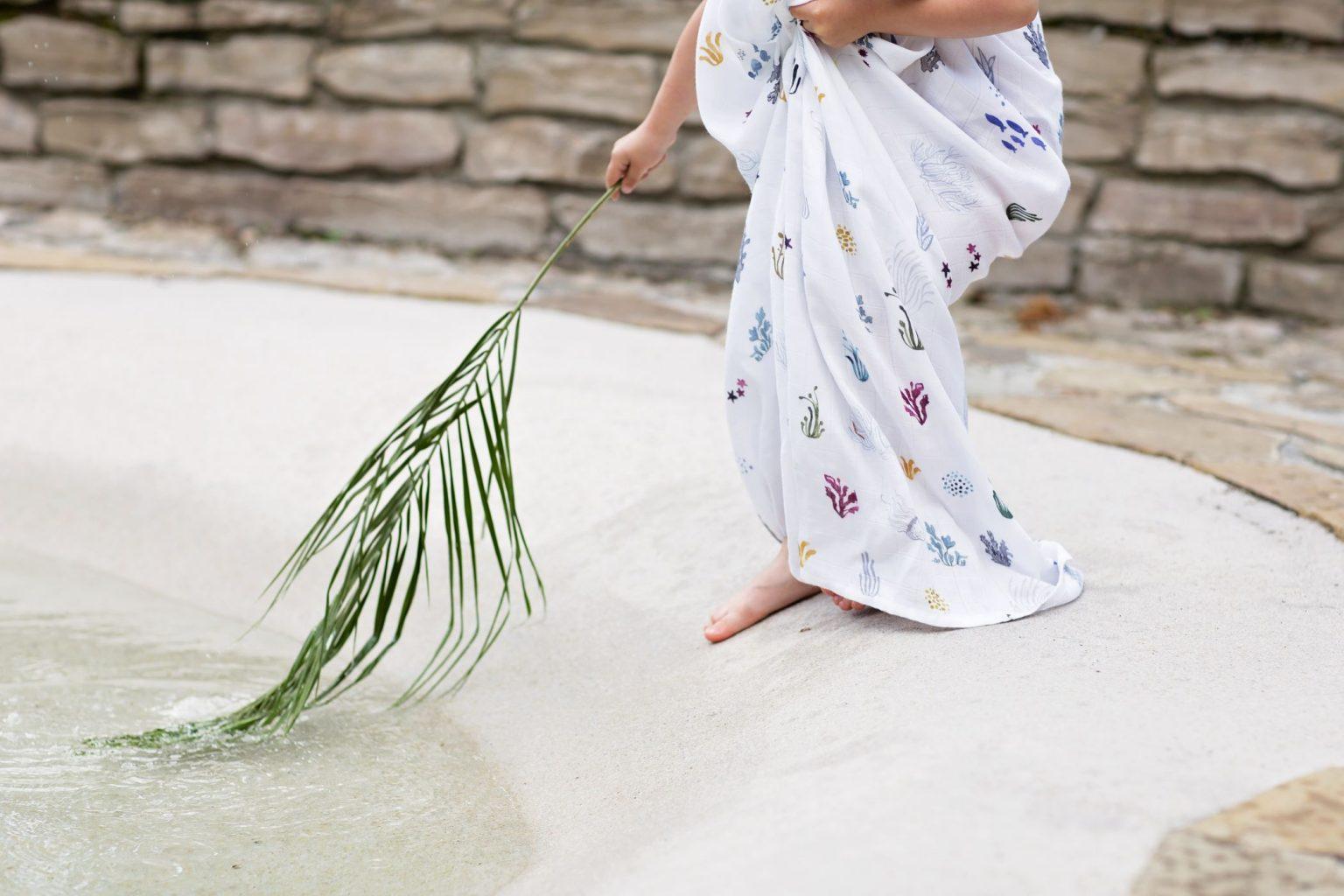 Otulacz bambusowy Poofi, Swaddle Bamboo Seawead Color Mood