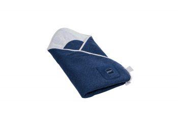 Baby Wrap Cotton Grey Blue Pure