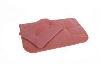 Duvet Pillow Organic Maroon Color Mood