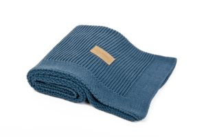 Knitted Blanket Organic Denim Color Mood