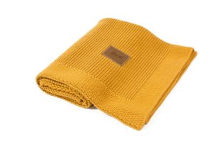 Knitted Blanket Organic Honey Color Mood 2