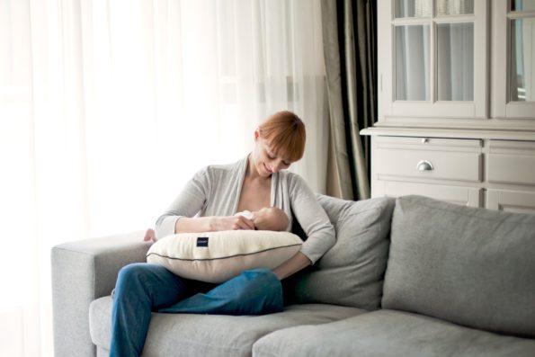 Nursing Pillow Minky Cream Pure 1