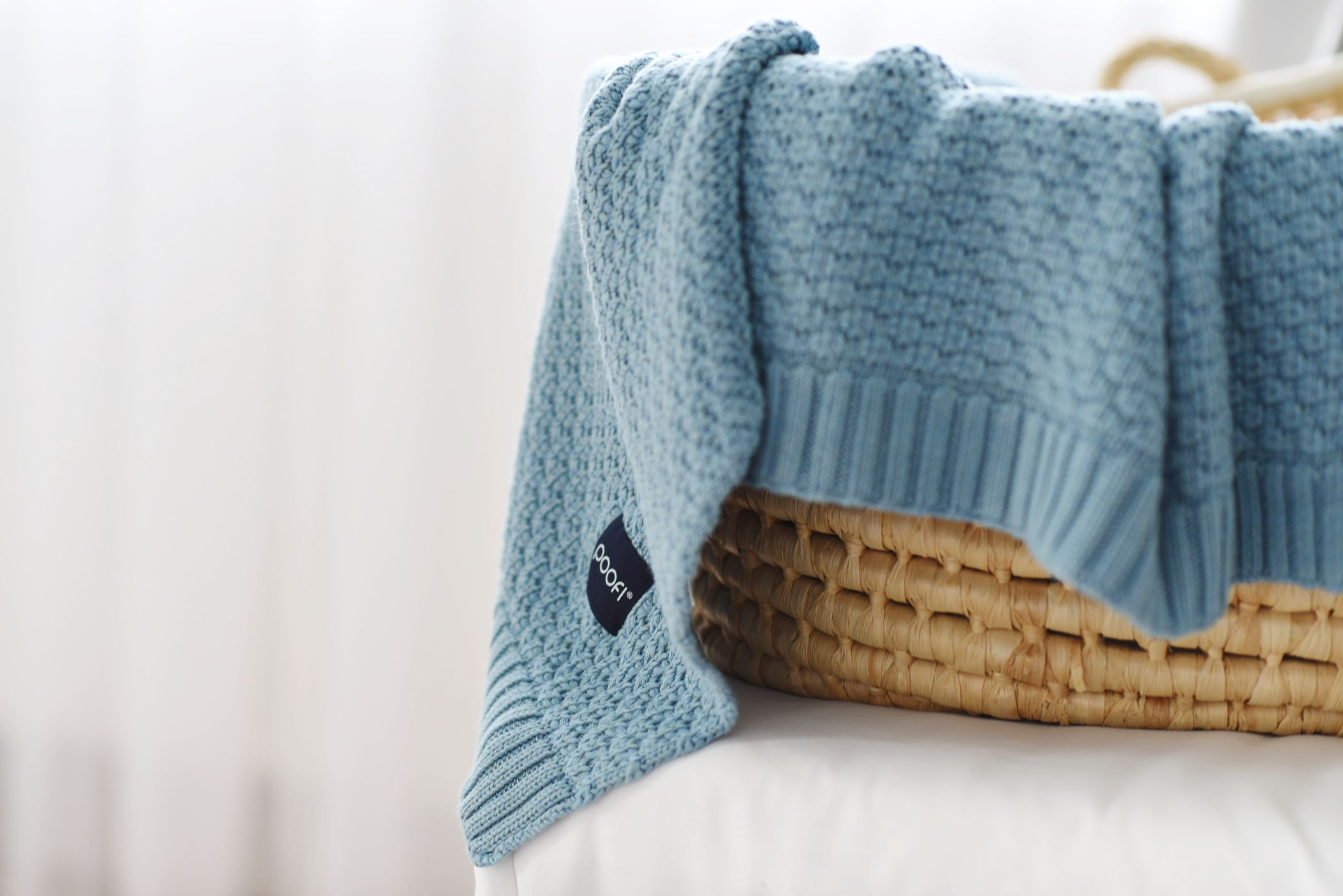 knitted blanket by Poofi