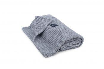 dark knitted blanket by Poofi