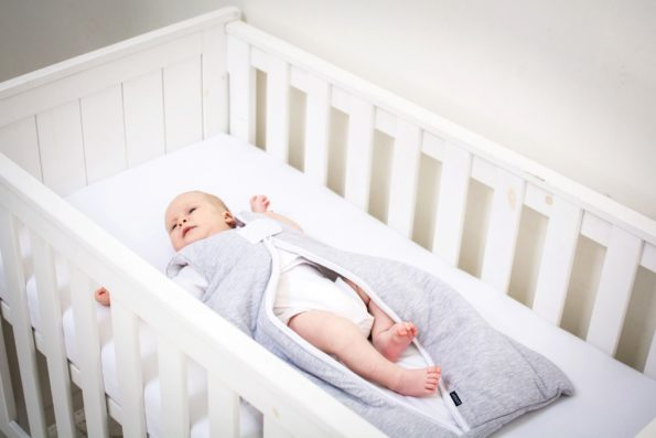 Sleeping Bag Cotton Grey White Pure