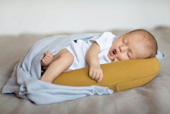 Stabilizer Pillow Light Blanket Organic Bamboo Mustard Grey Color Mood