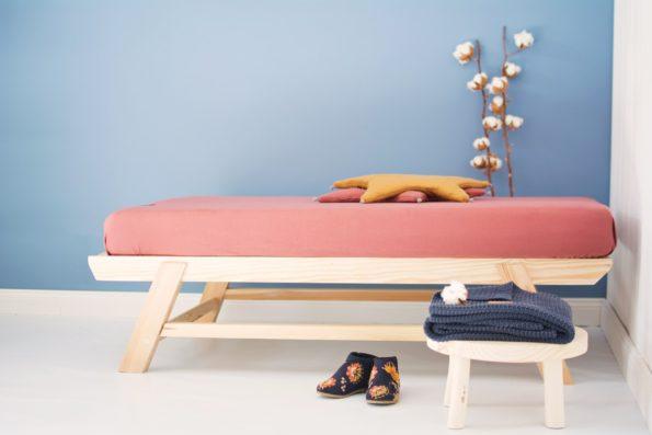 Star Pillow Knitted Blanket Mattress Sheet Organic Maroon Mustard Dark Blue Color Mood