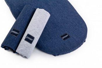 Stroller Mattress Sheet Cotton Blue Grey Pure