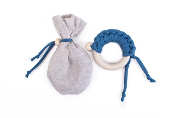 Teether Maple Organic Denim Color Mood 1