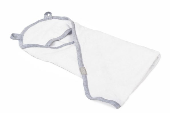 Towel Bamboo White Grey Pure 2