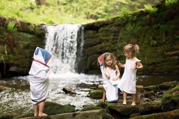 Towel Cotton Whilte Maroon Denim Color Mood 5
